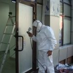 покраска окон и дверей без демонтажа